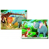 Jigsaw puzzle 48 pcs - The Jungle (2x) (by Educa)