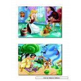 Jigsaw puzzle 48 pcs - Cinderella and Yasmine (2x) - Disney (by Educa)