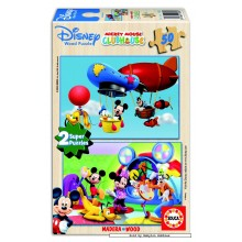 Jigsaw puzzle 50 pcs - Mickey Mouse Clubhouse (2x) - Disney (by Educa)