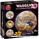 Jigsaw puzzle 240 pcs - Wasgij Destiny 1 Puzzle-A-Round Olympics - Graham Thompson (by Jumbo)