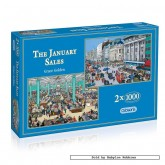 1000 pcs - The January Sales (2x) - Grace Golden (by Gibsons)