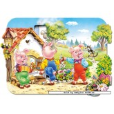 Jigsaw puzzle 20 pcs - Three Little Pigs - Floor puzzles (by Castorland)