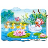 Jigsaw puzzle 20 pcs - Ugly Ducling - Floor puzzles (by Castorland)