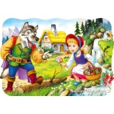 Jigsaw puzzle 30 pcs - Little Red Riding Hood - Shaped (by Castorland)