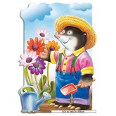 Jigsaw puzzle 30 pcs - Mole the Gardener - Shaped (by Castorland)