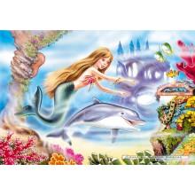 Jigsaw puzzle 120 pcs - Little Mermaid (by Castorland)