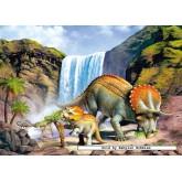 Jigsaw puzzle 260 pcs - Triceratops (horridus) (by Castorland)