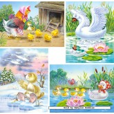 Jigsaw puzzle 8 pcs - Ugly Duckling - Progressive (by Castorland)