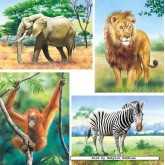 Jigsaw puzzle 8 pcs - Wild Animals (by Castorland)