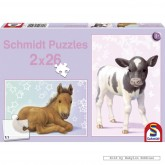 Jigsaw puzzle 26 pcs - Foal and Calf (2x) (by Schmidt)