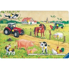 Jigsaw puzzle 10 pcs - Very Merry Farm - Wooden Puzzles (by Ravensburger)