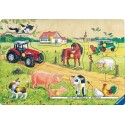 10 pcs - Very Merry Farm - Wooden Puzzles (by Ravensburger)