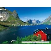 Jigsaw puzzle 500 pcs - Norwegian fishing village (by Ravensburger)