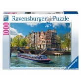 Jigsaw puzzle 1000 pcs - Canal cruise in Amsterdam (by Ravensburger)