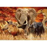 Jigsaw puzzle 1000 pcs - The Big Five (by Ravensburger)