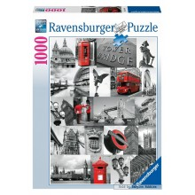 Jigsaw puzzle 1000 pcs - London - Black and White (by Ravensburger)