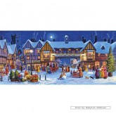 Jigsaw puzzle 636 pcs - Christmas in the Square - John Finlay (by Gibsons)