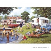 Jigsaw puzzle 1000 pcs - Caravan Holidays - Kevin Walsh (by Gibsons)