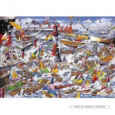 Jigsaw puzzle 1000 pcs - I Love Boats - Mike Jupp (by Gibsons)