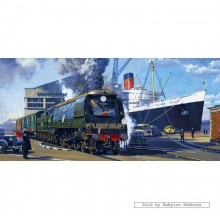 Jigsaw puzzle 636 pcs - The Cunarder - Malcolm Root (by Gibsons)