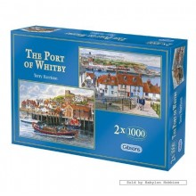 Jigsaw puzzle 1000 pcs - The Port of Whitby (2x) - Terry Harrison (by Gibsons)