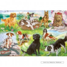 Jigsaw puzzle 500 pcs - Wagging Tails (by Gibsons)