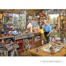 Jigsaw puzzle 1000 pcs - Grandad's Workshop - Michael Herring (by Gibsons)