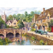 Jigsaw puzzle 1000 pcs - Castle Combe - Terry Harrison (by Gibsons)