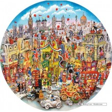 Jigsaw puzzle 500 pcs - Rooftops & Pageantry - Bill Bell (by Gibsons)