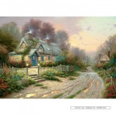 Jigsaw puzzle 500 pcs - Teacup Cottage - Thomas Kinkade (by Gibsons)