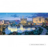 Jigsaw puzzle 636 pcs - Las Vegas Lights - Panorama (by Gibsons)