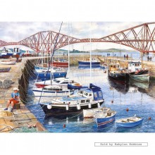 Jigsaw puzzle 1000 pcs - Queensferry Harbour - Terry Harrison (by Gibsons)