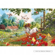 Jigsaw puzzle 100 pcs - The Poppy Field - Extra Large Pieces (by Gibsons)