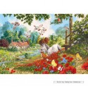 100 pcs - The Poppy Field - Extra Large Pieces (by Gibsons)