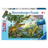 Jigsaw puzzle 20 pcs - Dinosaurs (by Ravensburger)