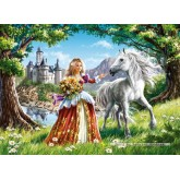 70 pcs - Charming Princess (by Castorland)