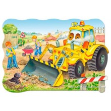 Jigsaw puzzle 20 pcs - Bulldozer in action - Floor puzzles (by Castorland)