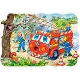 Jigsaw puzzle 20 pcs - Fire Brigade - Floor puzzles (by Castorland)