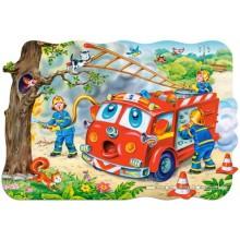 Jigsaw puzzle 20 pcs - Fire Brigade - Floor puzzles (by Castorland)