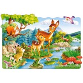 Jigsaw puzzle 20 pcs - Little Deers (by Castorland)