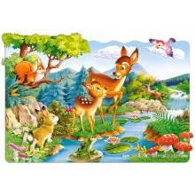 Jigsaw puzzle 20 pcs - Little Deers (by Castorland)