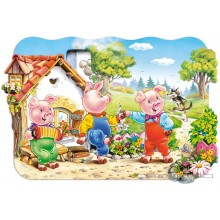 Jigsaw puzzle 20 pcs - Three Little Pigs (by Castorland)