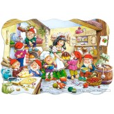 Jigsaw puzzle 20 pcs - Snow White and the Seven Dwarfs (by Castorland)