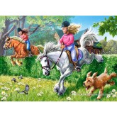 70 pcs - Horse  Riding (by Castorland)