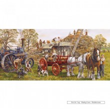 Jigsaw puzzle 636 pcs - Making Hay - Panorama (by Gibsons)
