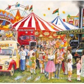 Jigsaw puzzle 500 pcs - Candyfloss & Carousels  (by Gibsons)