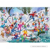 Jigsaw puzzle 500 pcs - Winter Whoopsies - John Francis (by Gibsons)