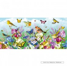 Jigsaw puzzle 636 pcs - Butterflies and Blooms - Panorama (by Gibsons)