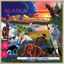 Jigsaw puzzle 48 pcs - Alaska Wildlife - Wooden Puzzles (by Masterpieces)