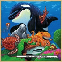 Jigsaw puzzle 49 pcs - Undersea Friends - Wooden Puzzles (by Masterpieces)